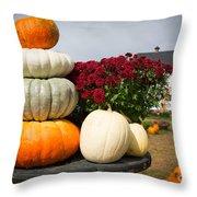 Fancy Pumpkins Throw Pillow