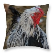 Fancy Rooster Throw Pillow