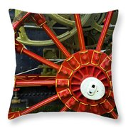 Fancy Tractor Wheel Throw Pillow