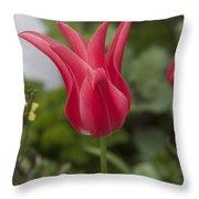 Spiky Tulip Throw Pillow