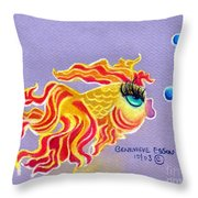 Fancytail Goldfish Throw Pillow