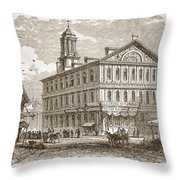 Faneuil Hall, Boston, Which Webster Throw Pillow