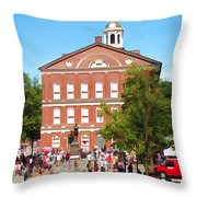 Faneuil Hall  Cradle Of Liberty Throw Pillow
