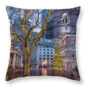 Faneuil Hall Holiday Throw Pillow