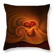 Fanfare Orange Throw Pillow