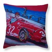 Fangio At Monaco 57 Throw Pillow