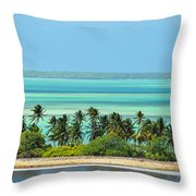 Fanning Island Throw Pillow
