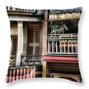 Fanny Anne's Saloon Throw Pillow