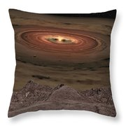 Fantacy Edge Of The World Throw Pillow