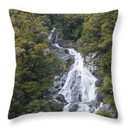 Fantail Falls Throw Pillow