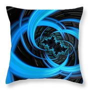 Fantasia Azul Throw Pillow