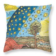 Fantastic Depiction Of The Solar System Throw Pillow