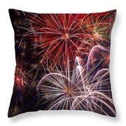 Fantastic Fireworks Throw Pillow