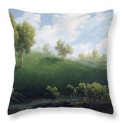 Fantastic Landscape Throw Pillow