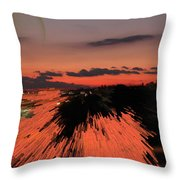 Fantastic Space Sunset Throw Pillow