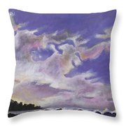 Fantastic Sunset North Shore Oahu Hawaii Throw Pillow