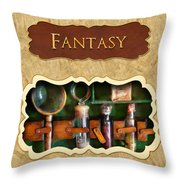 Fantasy Button Throw Pillow by Mike Savad