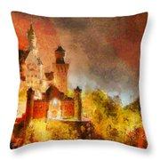 Fantasy Castle Throw Pillow
