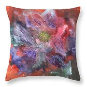 Fantasy Clematis Throw Pillow