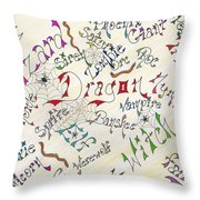 Fantasy Creatures Throw Pillow
