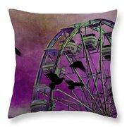 Fantasy Ferris-wheel Throw Pillow