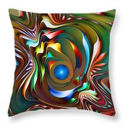 Fantasy Flower 3 Throw Pillow