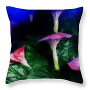 Fantasy Flowers Embossed Hp Throw Pillow