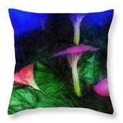 Fantasy Flowers Lux Throw Pillow