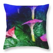 Fantasy Flowers Pastel Chalk 2 Throw Pillow