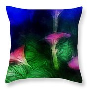 Fantasy Flowers Traveling Pigments Hp Throw Pillow