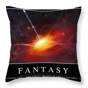 Fantasy Inspirational Quote Throw Pillow by Stocktrek Images