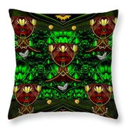 Fantasy Leather Heads In A Scenery Throw Pillow