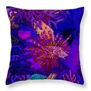 Fantasy Lionfish Throw Pillow
