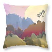 Fantasy Mountain Throw Pillow