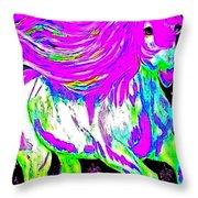 Fantasy Painted Dream Horse Throw Pillow