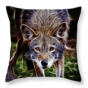 Fantasy Red Wolf Throw Pillow