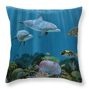 Fantasy Reef Re0020 Throw Pillow