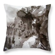 Fantasy Ski Run Throw Pillow