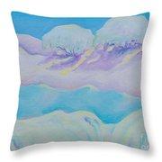 Fantasy Snowscape Throw Pillow