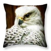 Fantasy White Falcon Throw Pillow