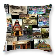 Fantasyland Disneyland Collage Throw Pillow