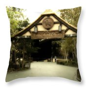 Fantasyland Theatre Signage Disneyland Throw Pillow
