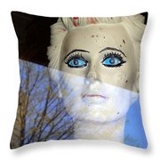 Far Away Eyes Throw Pillow