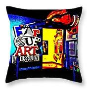 Far Out Art Museum At Wonderworks Throw Pillow