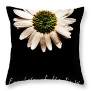 Far Side Of The Daisy Fractal Version Throw Pillow