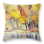 Far Side Of The Pond Throw Pillow
