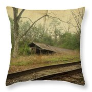 Far Side Of The Tracks Throw Pillow