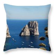 Faraglioni In Capri Throw Pillow