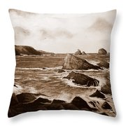 Faraid Head Durness Scotland Throw Pillow