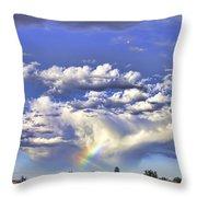 Farewell Rainbow Throw Pillow